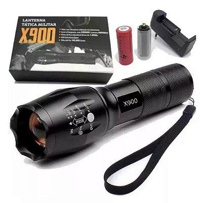 Lanterna Tática Militar X900 Recarregável  Alto Brilho