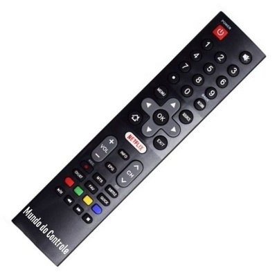 Controle Remoto Tv Philco 4k Led 55 Netflix PTV55 /  PTV55U /  PTV55U21 / PTV55U21D /  PTV55U21DS /  PTV55U21DSW
