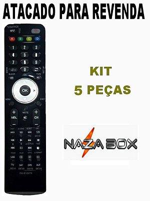 Controle Remoto Receptor Receptor Nazabox Mini C Plus Atacado Kit com 5 peças