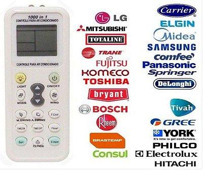 Controle Remoto Universal Para Ar Condicionado - Todas As Marcas Kit com 5 Peças