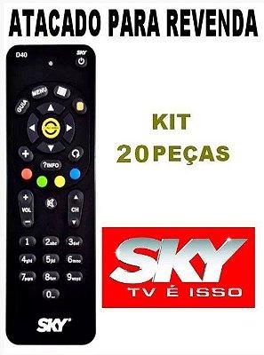 Controle Remoto Sky Digital Sky-livre D40 Novo Original Kit com 20 Peças