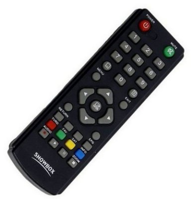 Controle Remoto Receptor Showbox Sat HD / Ultra HD Multimedia / S-Box Mini SD / Net Ultra HD