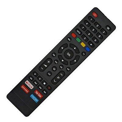 Controle Remoto para  TV Philco Smart 4K com Botões  Netlix, Youtube, Globoplay, Prime Vídeo