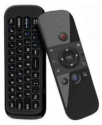Controle Mini Teclado Air Mouse Sem Fio Giroscópio Com Voz