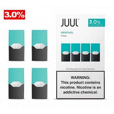 REFIL JUUL (PACK OF 4) MENTHOL 3% NIC SALT preço especial só essa semana