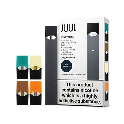 JUUL STARTER KIT  COM 1 REFIL ( 4 PODS) 1,8MG