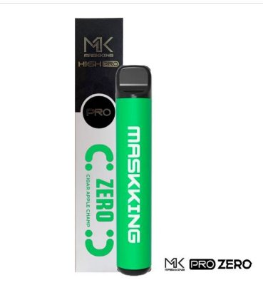 MK - APPLE CANTALOUPE - ZERO NICOTINA -  MASKKING HIGH PRO ZERO NICOTINA - DESCARTAVEL - 1000 PUFFS