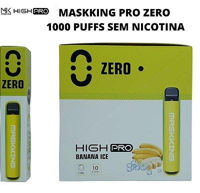 PROMOÇÃO NA VENDA DA CAIXA COM 10 UNIDADES - MK - BANANA ICE -  ZERO NICOTINA - MASKKING HIGH PRO  - DESCARTAVEL -  1000 PUFFS