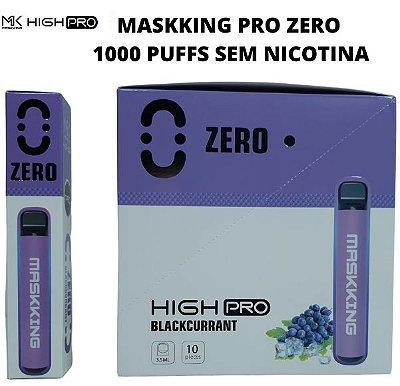 PROMOÇÃO NA VENDA DA CAIXA COM 10 UNIDADES -  MK - BLACKCURRANT - ZERO NICOTINA - MASKKING HIGH PRO  - DESCARTAVEL -  - 1000 PUFFS