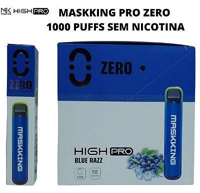 PROMOÇÃO NA VENDA DA CAIXA COM 10 UNIDADES -  MK - BLUE RAZZ - ZERO NICOTINA - MASKKING HIGH PRO ZERO NICOTINA - DESCARTAVEL -  - 1000 PUFFS