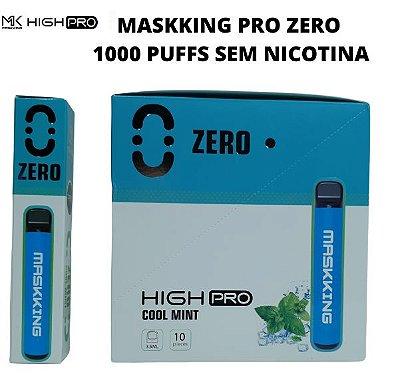 PROMOÇÃO NA VENDA DA CAIXA COM 10 UNIDADES - MK - COOL MINT  - ZERO NICOTINA - MASKKING HIGH PRO  - DESCARTAVEL-  1000 PUfFS