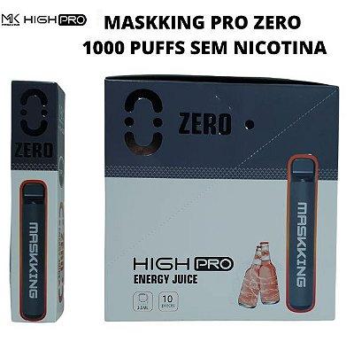 PROMOÇÃO NA VENDA DA CAIXA COM 10 UNIDADES - MK - ENERGY JUICE  -  ZERO NICOTINA  - MASKKING HIGH PRO - DESCARTAVEL -  1000 PUFFS