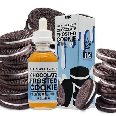 LIQUIDO TOP CLASS PREMIUM  60ML -  CHOCOLATE FROSTED COOKIE - VG70/30