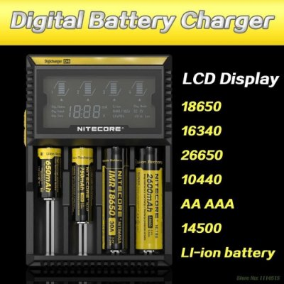 Nitecore D4 - Carregador Inteligente Para Pilhas E Baterias