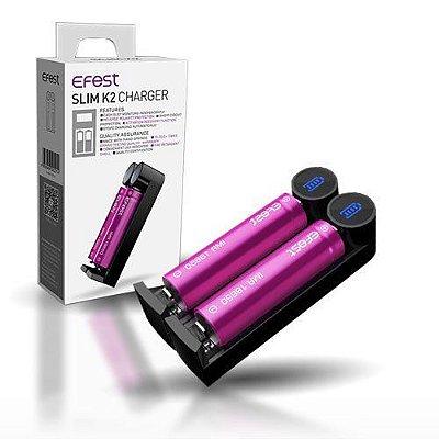 Efest Slim K2 USB Carregador de Bateria Inteligente para 18650/26650/20700/18500/18350/17340/16340/14500/10440/26500