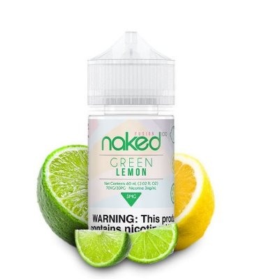 LIQUIDO NAKED 100 - FUSION - GREEN LEMON 60ML