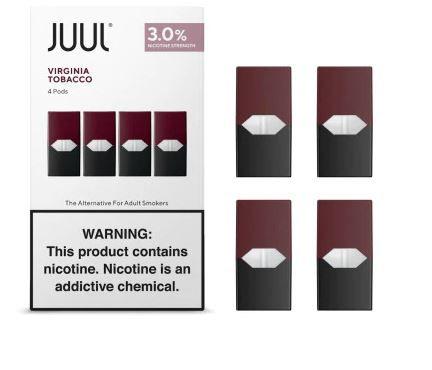 REFIL JUUL (PACK OF 4) VIRGINIA TOBACCO 3% NICOTINA