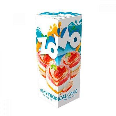 LÍQUIDO ZOMO - MY TROPICAL CAKE E-JUICE 60ML - 3MG NICOTINA