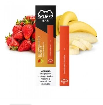 PUFF BAR - DISPOSABLE POD DEVICE - DESCARTAVEL- STRAWBERRY BANANA