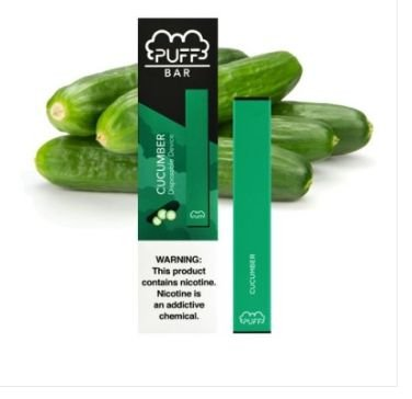PUFF BAR - DISPOSABLE POD DEVICE - DESCARTAVEL- CuCUMBER