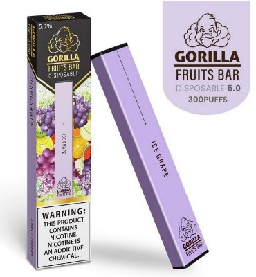 GORILLA FRUITS BAR -  DESCARTAVEL - ICE GRAPE