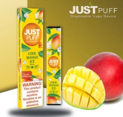 JUST PUFF - DISPOSABLE POD DEVICE - DESCARTAVEL-  COOL MANGO ICE