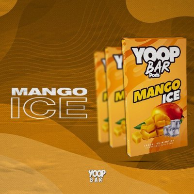 YOOP BAR POD MANGO ICE 60MG SALT NIC - COMPATÍVEL COM O JUUL