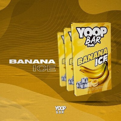 YOOP BAR POD BANANA ICE 60MG SALT NIC - COMPATÍVEL COM O JUUL