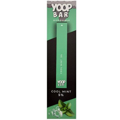 YOOP BAR DISPOSABLE POD DEVICE 50MG NIC SALT - DESCARTAVEL- COOL MINT