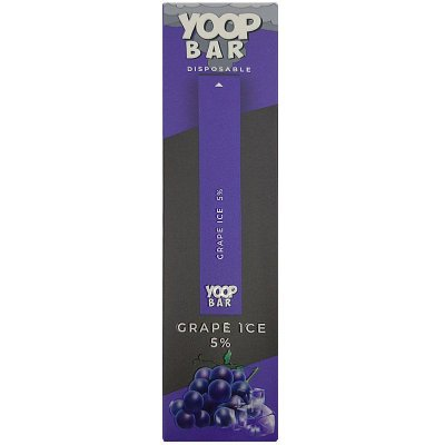 YOOP BAR DISPOSABLE POD DEVICE 50MG NIC SALT - DESCARTAVEL- GRAPE ICE