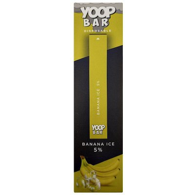 YOOP BAR DISPOSABLE POD DEVICE 50MG NIC SALT - DESCARTAVEL- BANANA ICE