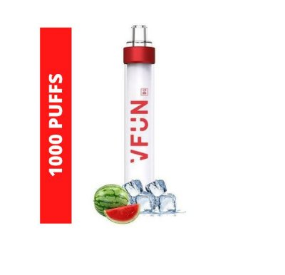 VAPER DESCARTAVEL VFUN COM LED EM FLASH EDITION 1000 PUFFS - TOP PARA DE NOITE NAS BALADAS - SABOR  WATERMELON ICE 1000 PUFFS /1000 TRAGADAS/ 1000 PUXADAS 50MG