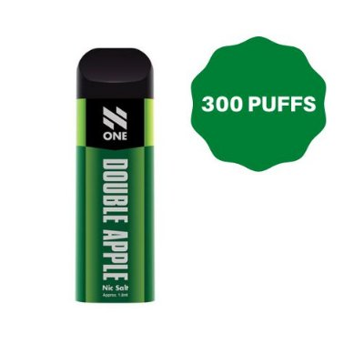 N ONE - POD DESCARTAVEL 50MG SALT NIC - DOUBLE APPLE - 300 PUXADAS