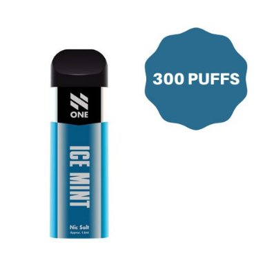 N ONE - POD DESCARTAVEL 50MG SALT NIC - ICE MINT - 300 PUXADAS