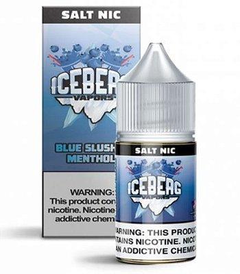 LIQUIDO ICEBERG VAPORS SALT NIC 35MG- BLUE SLUSHIE MENTHOL - 30ML