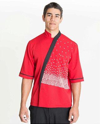 Hapi Diagonal Vermelho com Faixa Preta Prosperidade Masculino