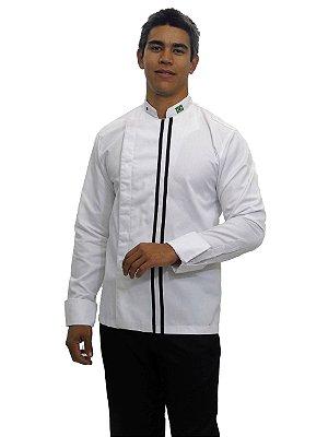 Dólmã Transpassada com botões embutidos Branco