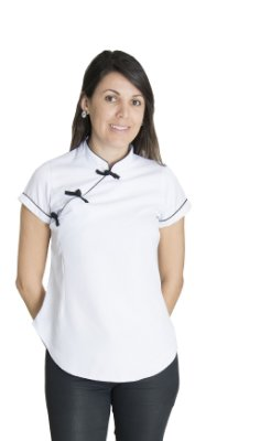 Chinesinha Feminino na cor Branca com Fechamento em Nó