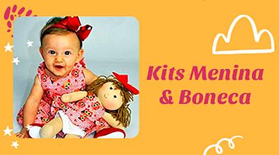 banner kit menina e boneca