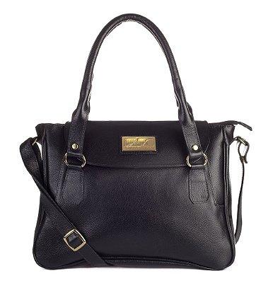 Bolsa Danna em couro legítimo preta