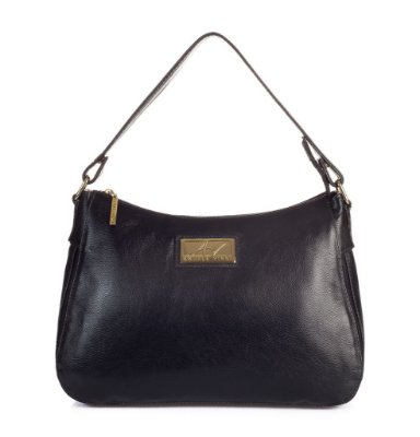 Bolsa Belle em couro legítimo preta