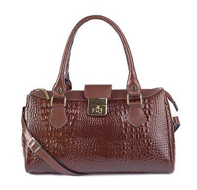 Bolsa de couro feminina Bethy pinhão