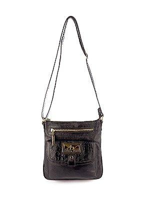 Bolsa Pequena Tiracolo Anny em couro legítimo preta