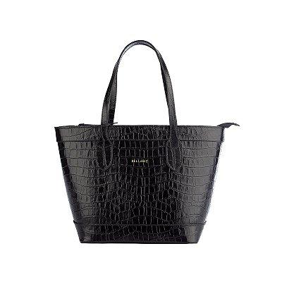 Bolsa de couro legítimo Marina preta