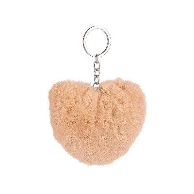 Chaveiro Pelúcia Coração Lily Nude