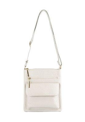 Bolsa Pequena Transversal de couro Alana marfim