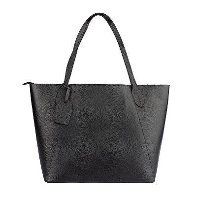 Bolsa Shopping bag de couro Helena preta