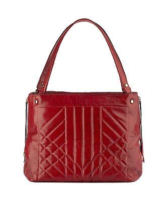 Bolsa de couro legítimo Giovana vermelha