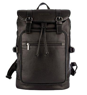 Mochila saco masculina Xtreme de couro preta