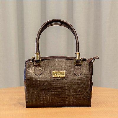 Bolsa de mão em couro Emily café